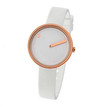 Picto 30 mm White / Rosegold