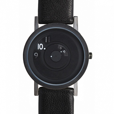 Reveal black leather 40 mm