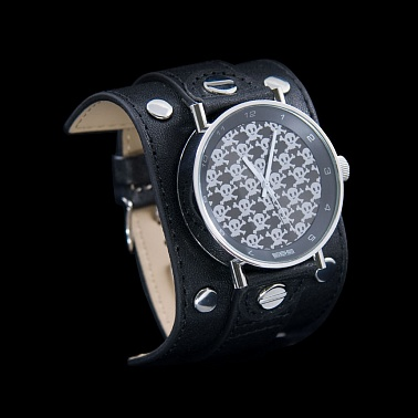 Silver Watch Small Skulls