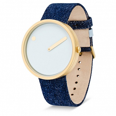 Picto 40 mm Blue / Jeans