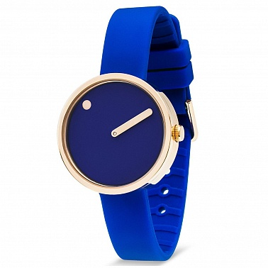 Picto 30 mm Blue/ Rosegold